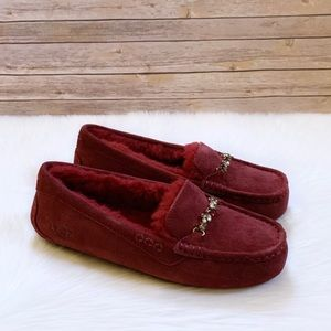 UGG Ansley Charm Gem Kiss Suede Slippers